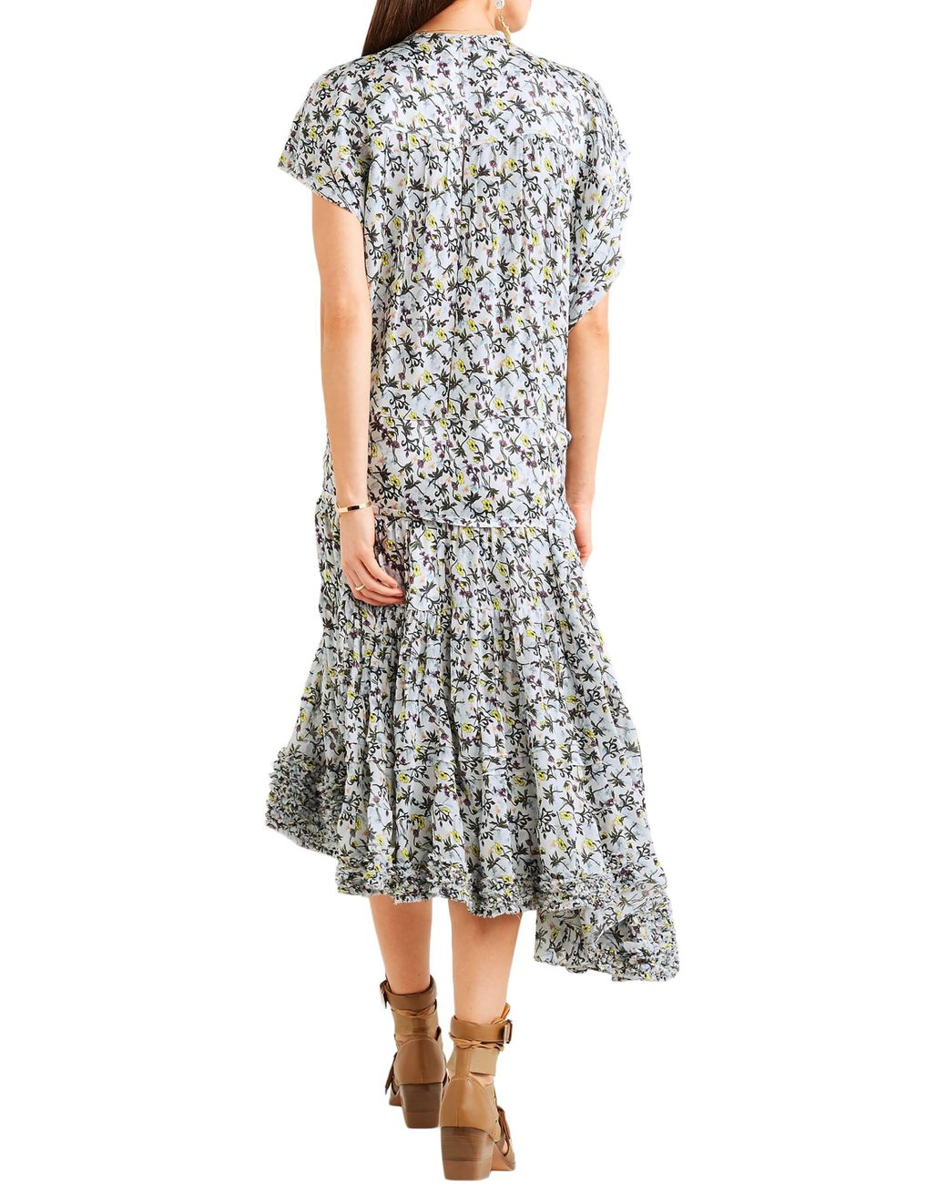 Dorothy Perkins Stretchy Mid Blue Dress with Top Floaty Floral Layer Sleeveless