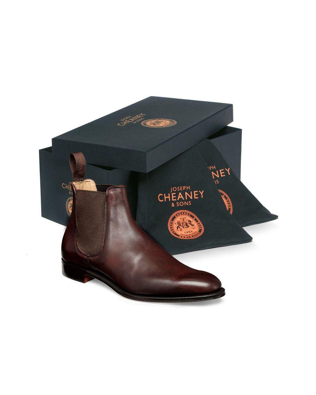 e9843b09272 Men's Brown Burgundy Leather Threadneedle Chelsea Boot