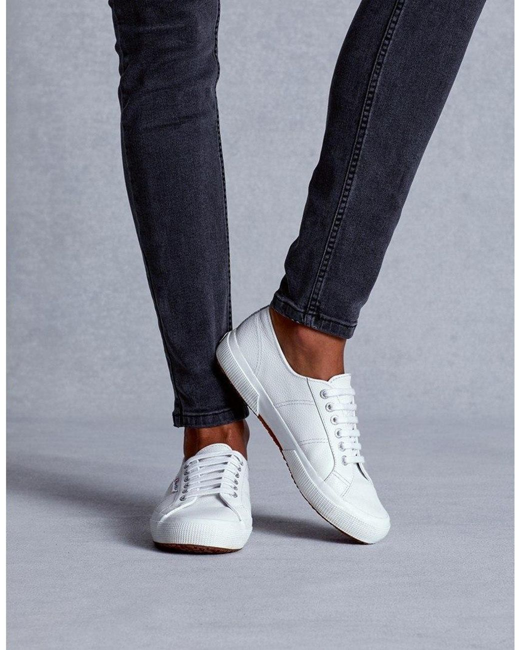 Superga Leather Sneakers in White