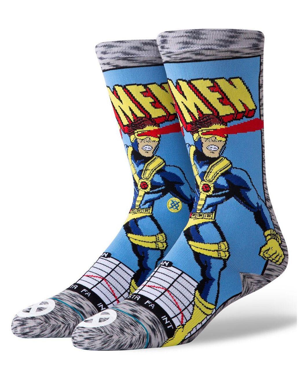 """Men/'s Graphic Print Sock Stance /""""In A Daze/"""" Classic Crew Socks Multi"""