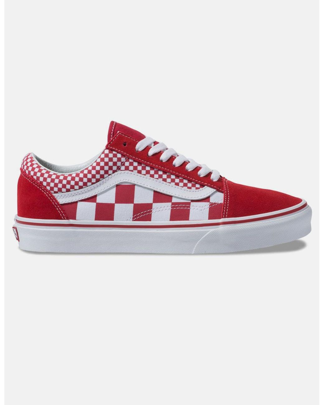 3d0823614e Lyst - Vans Red Mix Checker Old Skool Shoes in Red for Men - Save 23%