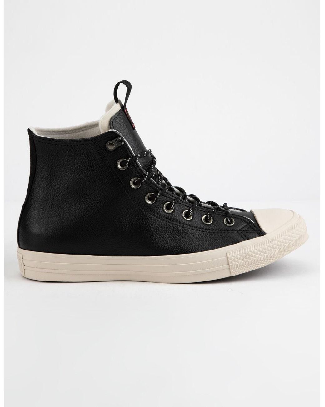 Brown leather converse chuck taylor all star fleece inner