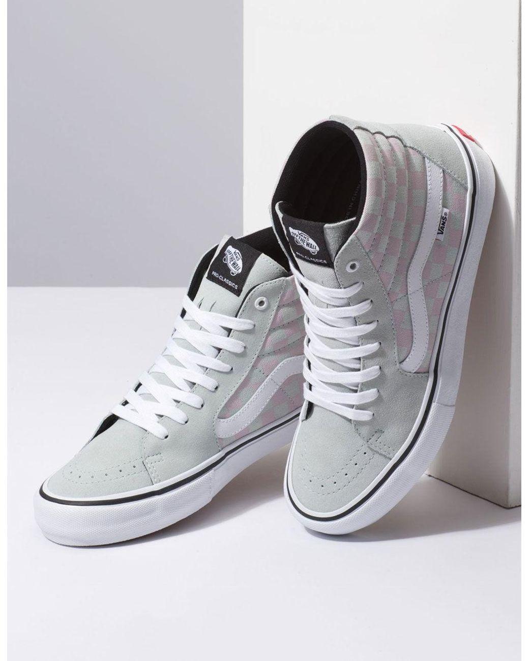eec6d30d62 Lyst - Vans Checkerboard Sk8-hi Pro Smoke   Violet Ice Shoes for Men