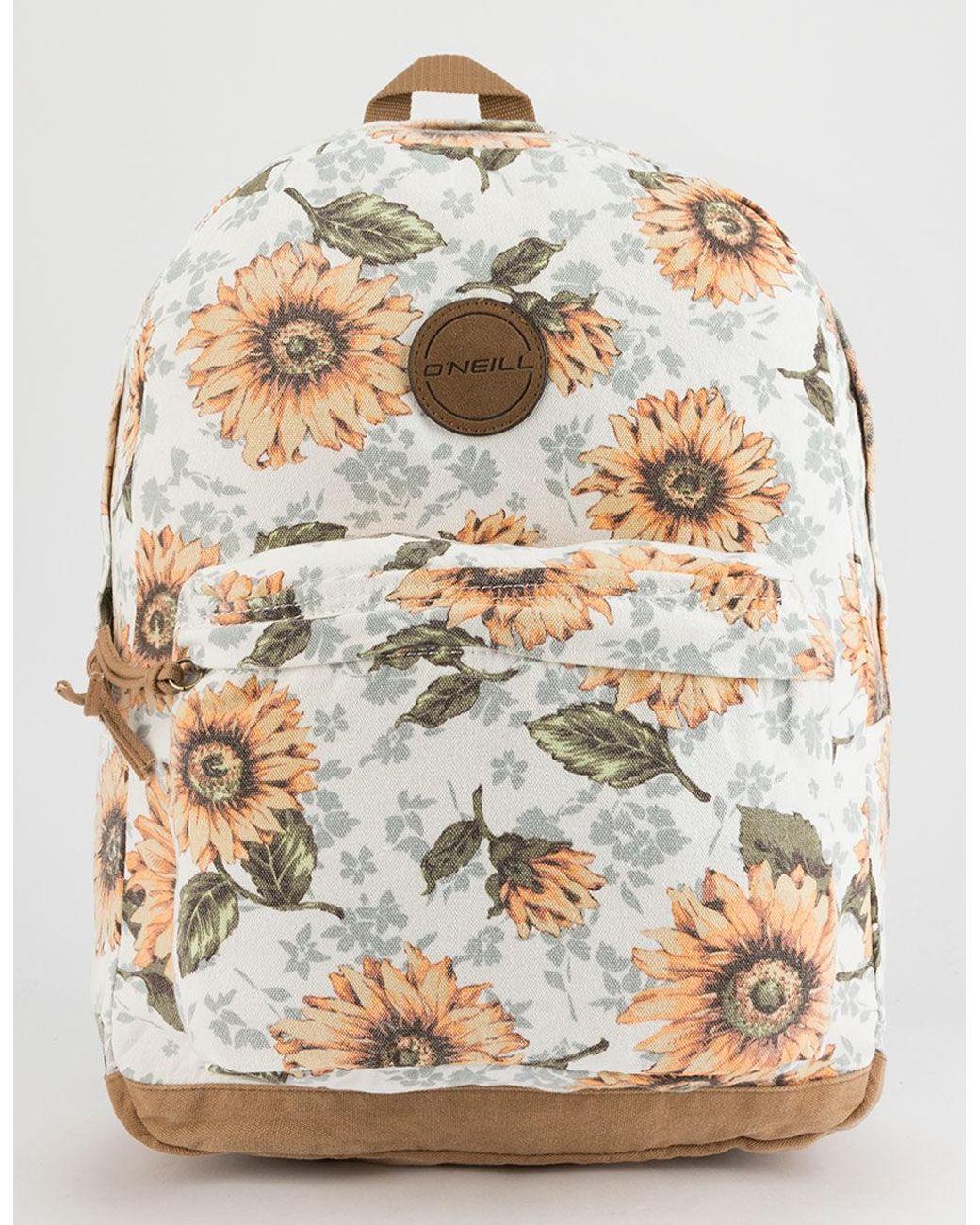 fc550581ed3a48 O'neill Sportswear Shoreline Sunflower White Backpack - Lyst