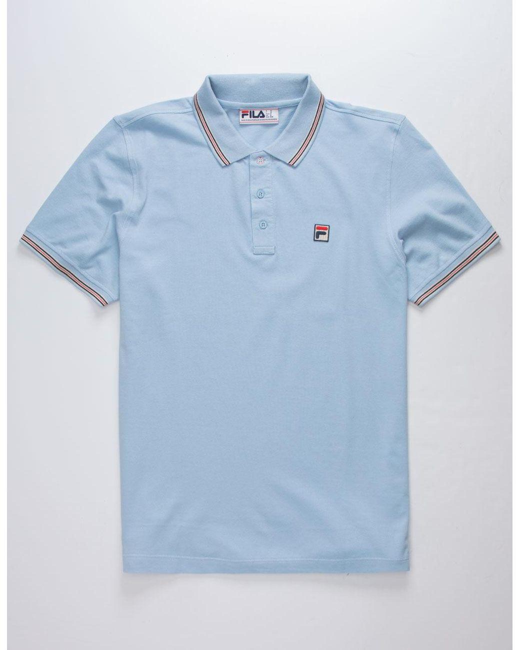Matcha 3 Light Blue Mens Polo Shirt