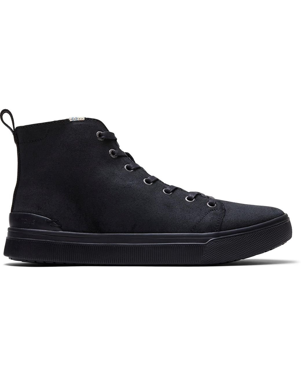 Schwarze Leder Trvl Lite High Top Sneakers Für Schuhe
