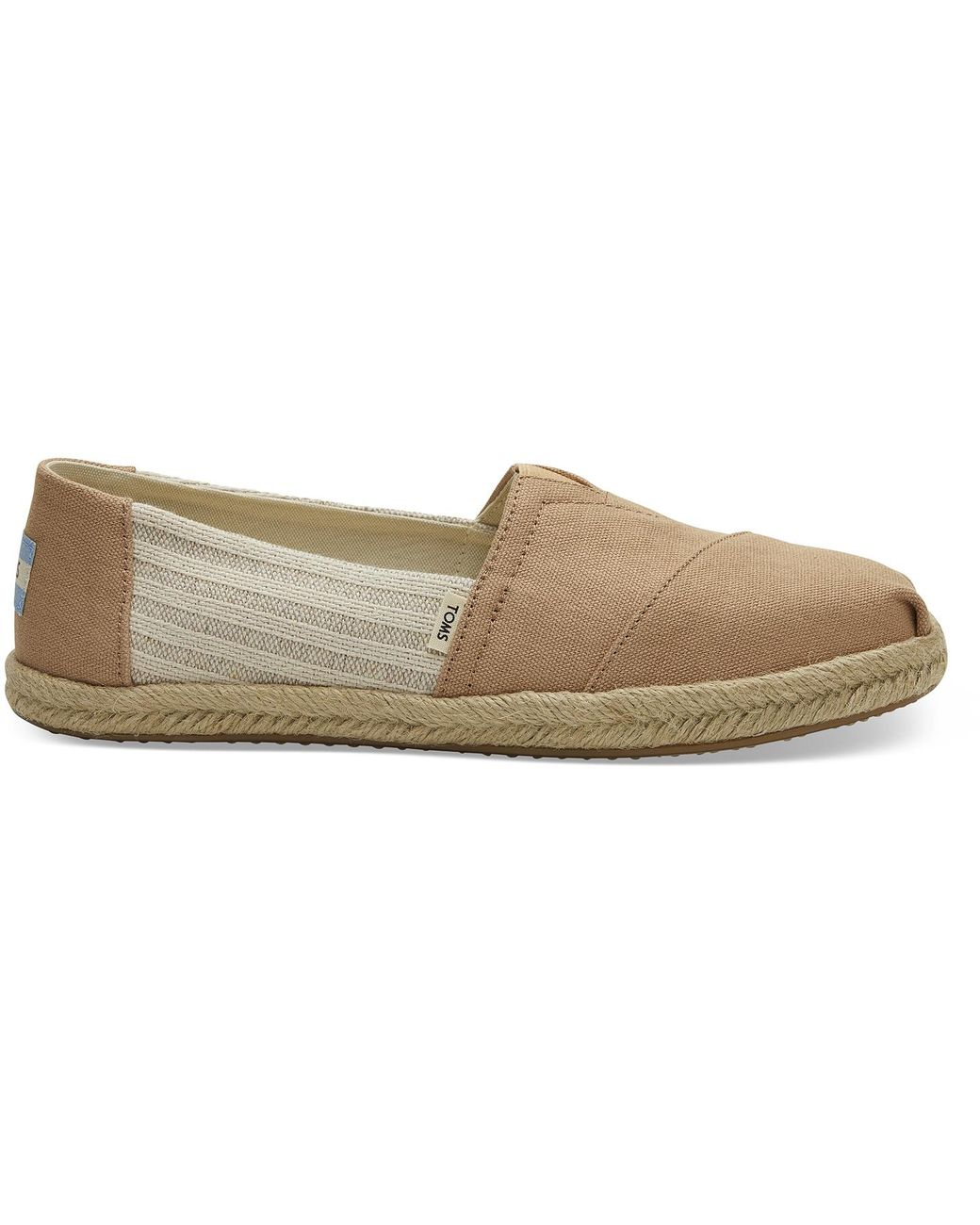 TOMS Toffee Canvas Striped Women's