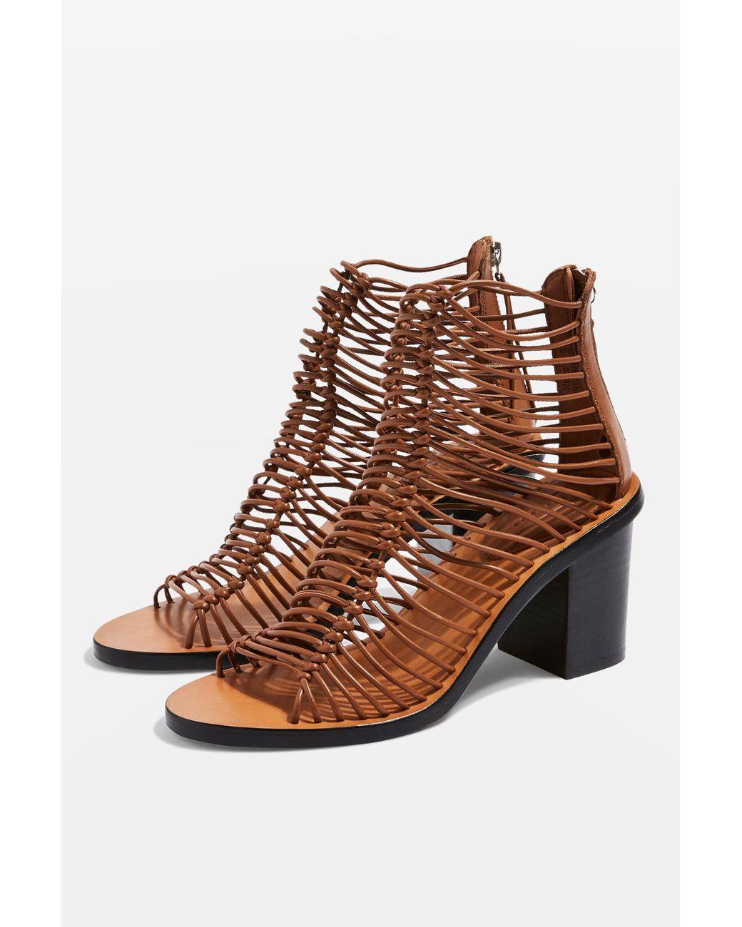 Women's Sandals Brown Narly Smart Heeled PkX0wO8n