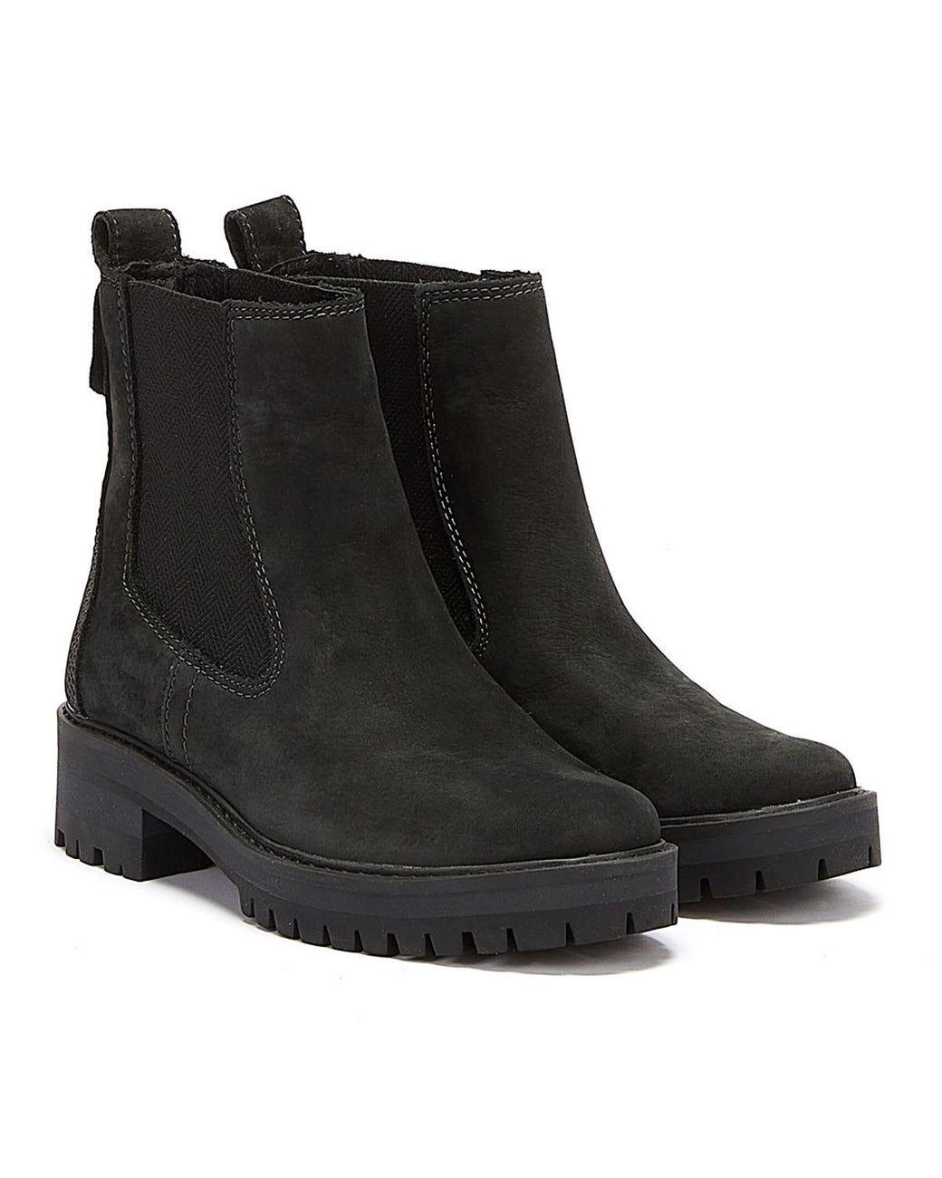 Timberland Leather Womens Black