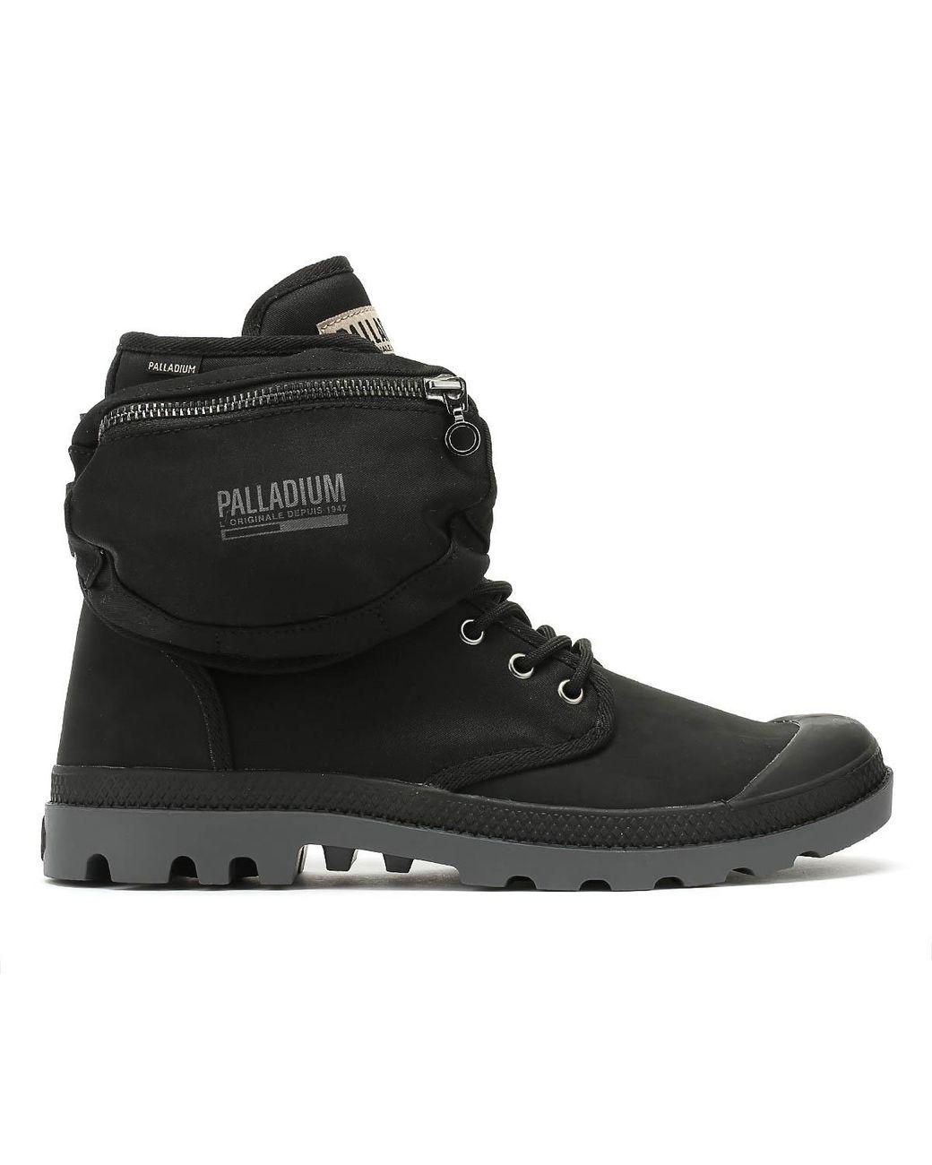det senaste stor rea stor rea Palladium Fleece Pampa Solid Ranger Tp Black Boots for Men ...