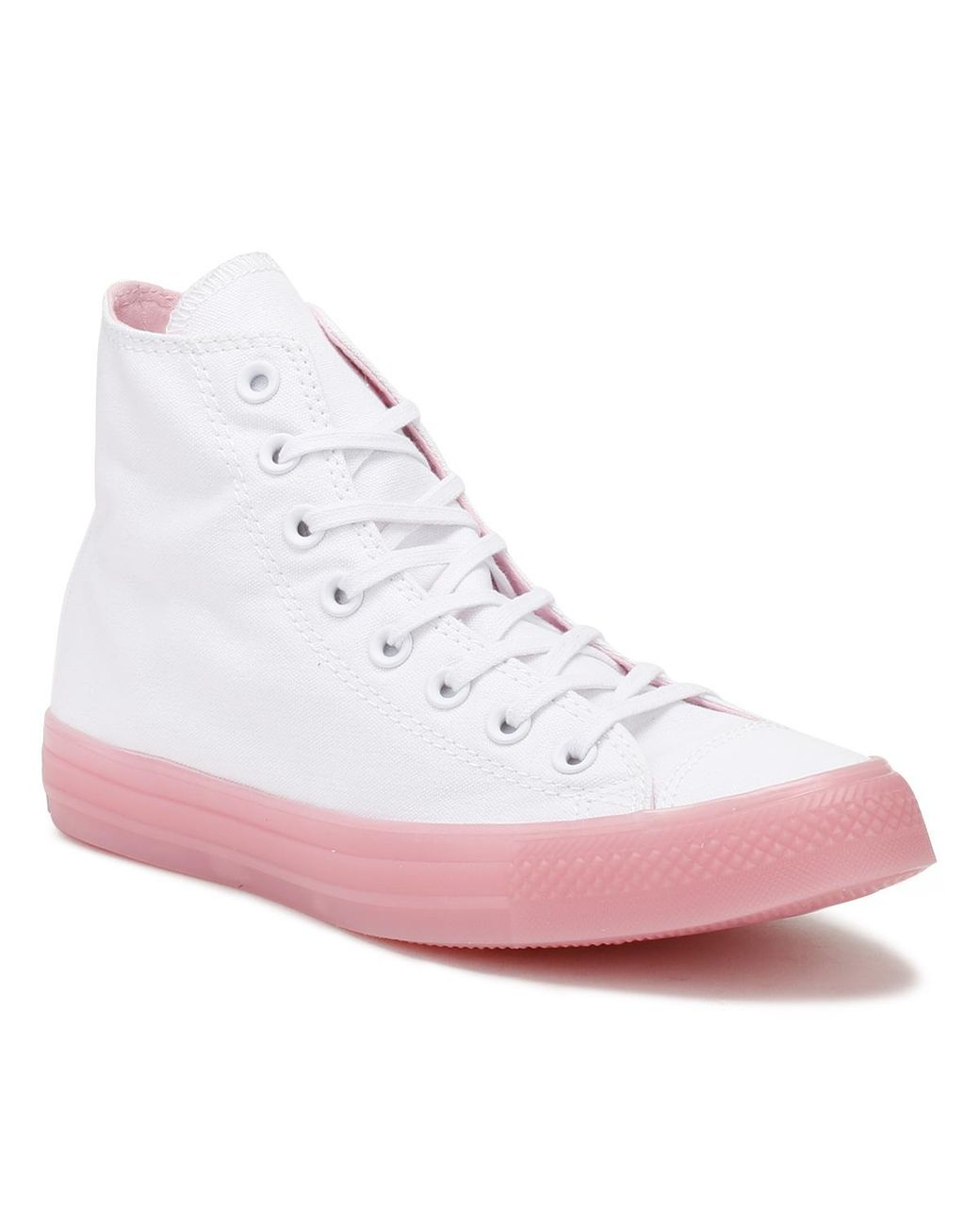 827c32ed55df Converse All Star Womens White   Cherry Hi Trainers in White - Save ...