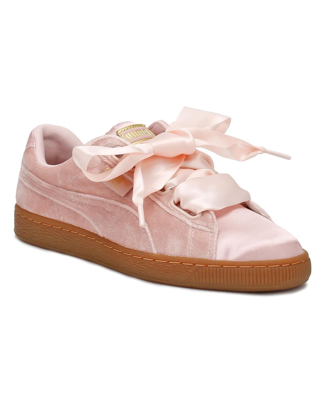 purchase cheap d7073 430e4 Womens Pink / Gum Velvet Basket Heart Sneakers Women's Shoes (trainers) In  Pink