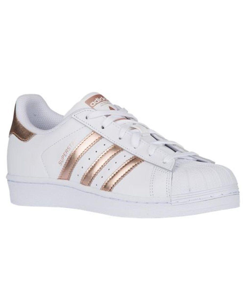 adidas white rose gold superstar- OFF