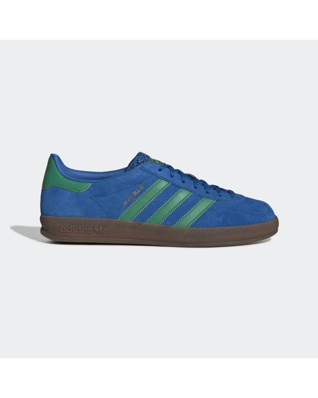 adidas Suede Gazelle Indoor Blue & Green Ee5735 - Save 49% - Lyst