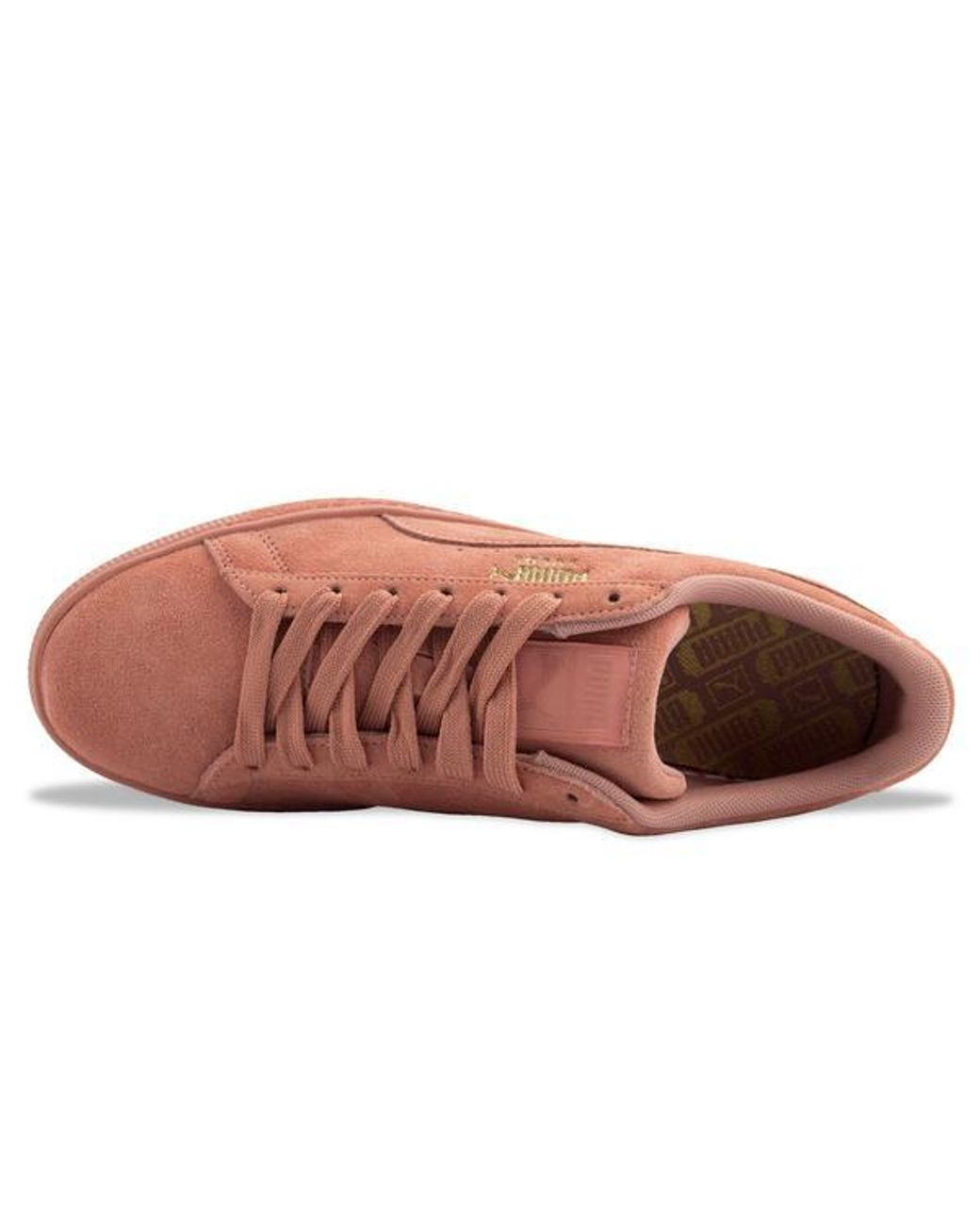 PUMA SUEDE 362595 RED//CLAY//PEBBLE//FLOWER PUMA SUEDE CLASSIC TONAL TRAINERS