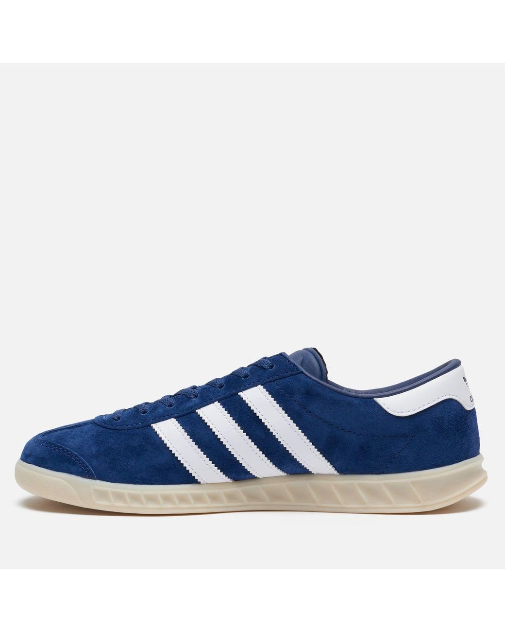 adidas Suede Hamburg Lace-up Sneakers in Blue for Men - Save 67 ...