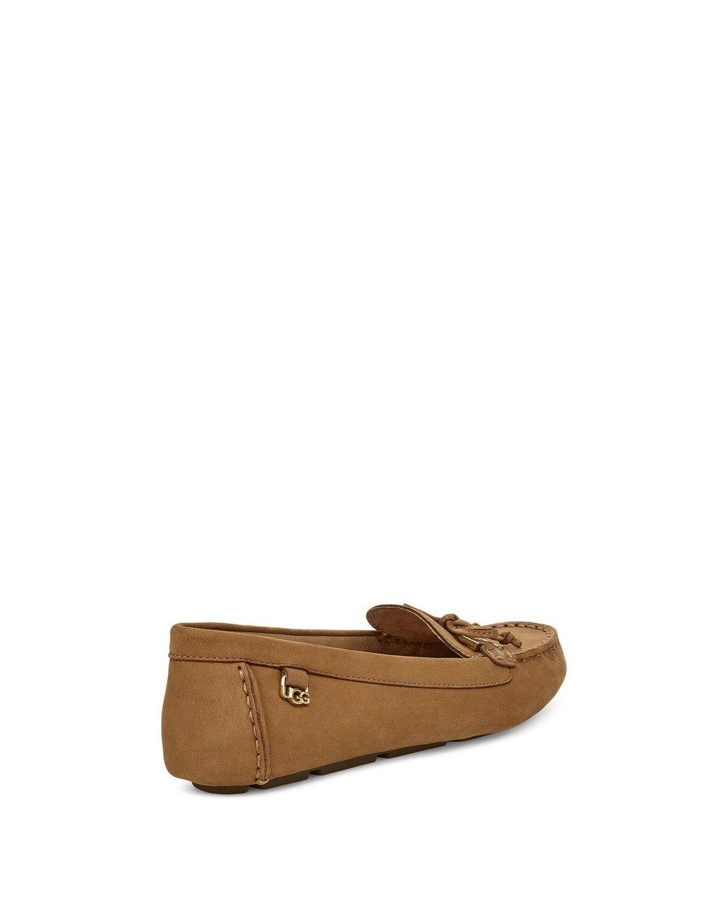 UGG Leather Serena Loafer in Chestnut