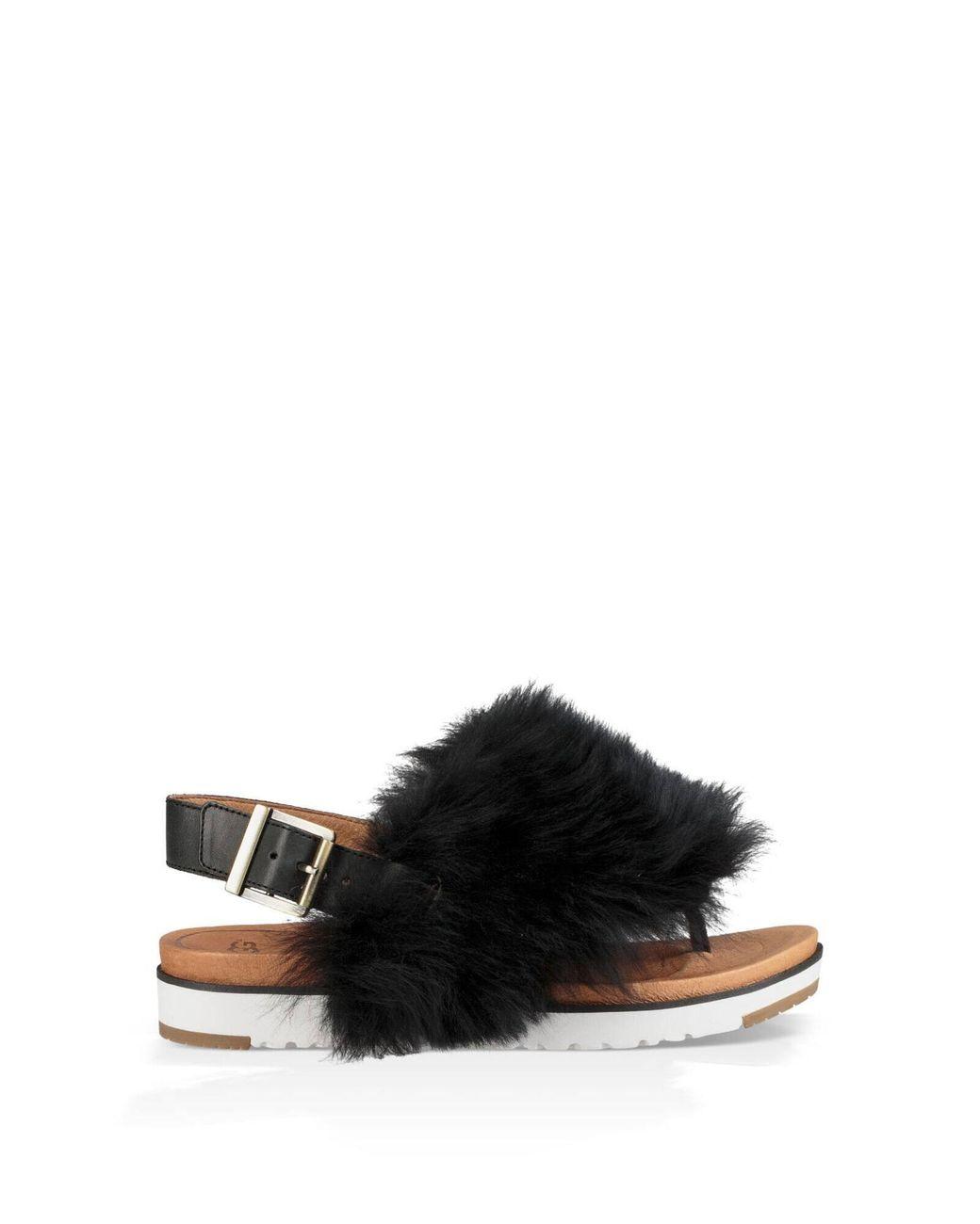 UGG Leather Holly Sandal Sheepskin in