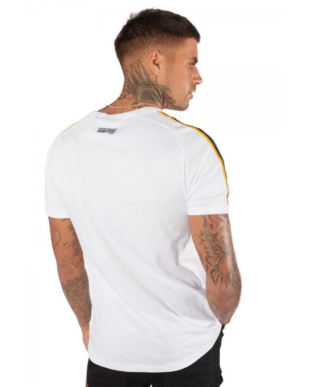Antony Morato Sport Crew Neck White Shoulder Taped T-Shirt
