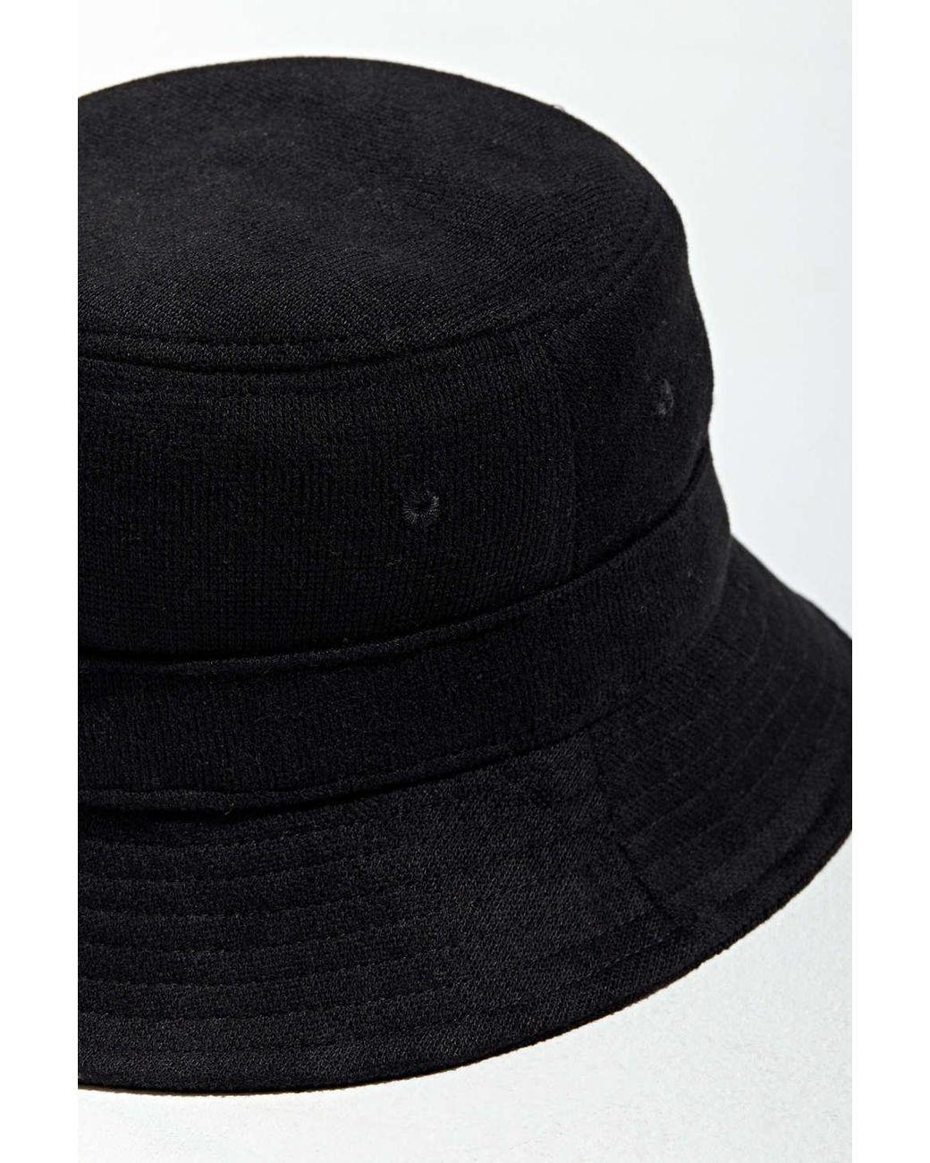 Bdg Crochet Knit Bucket Hat In Black For Men Lyst
