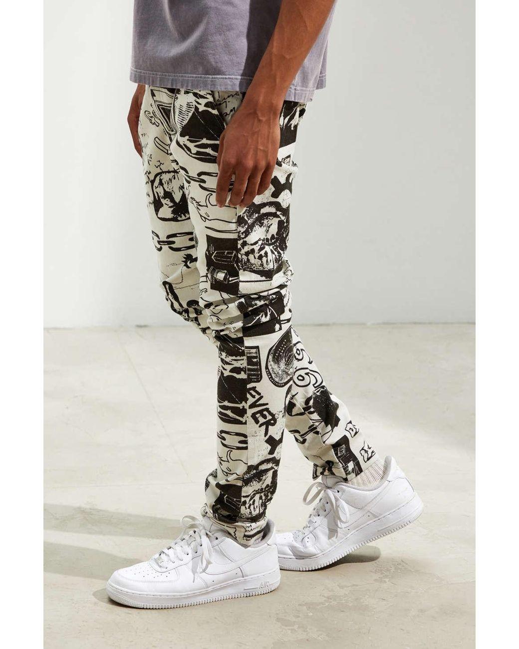 Men's Uo Outland Art Print Skinny Pant