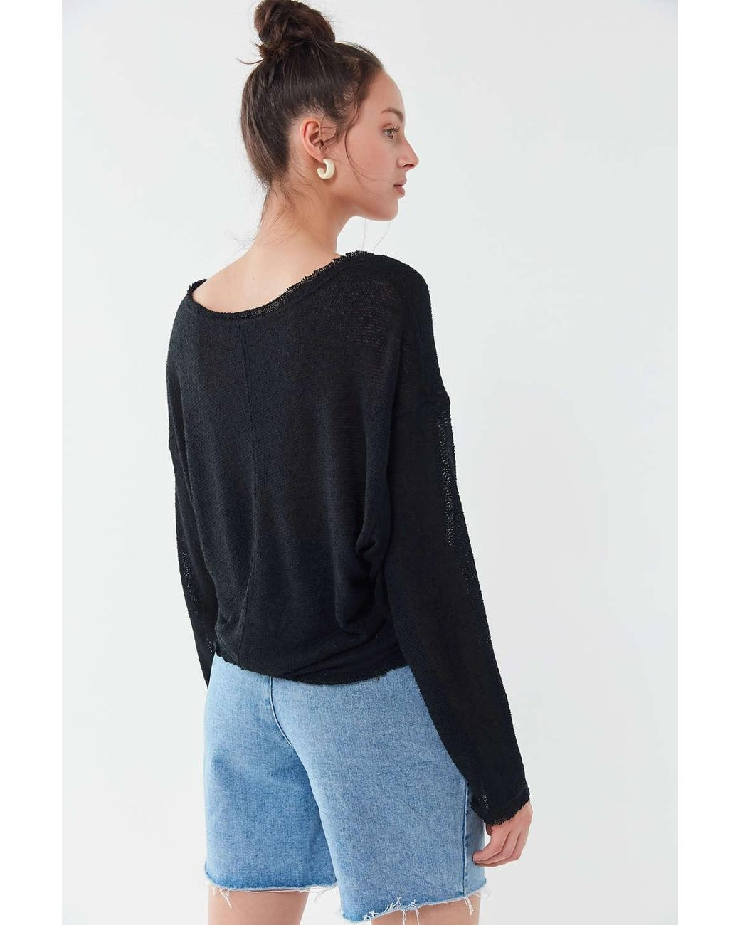 ea7dd8137d12 Out From Under Logan Jersey Slouchy Sweater - Lyst