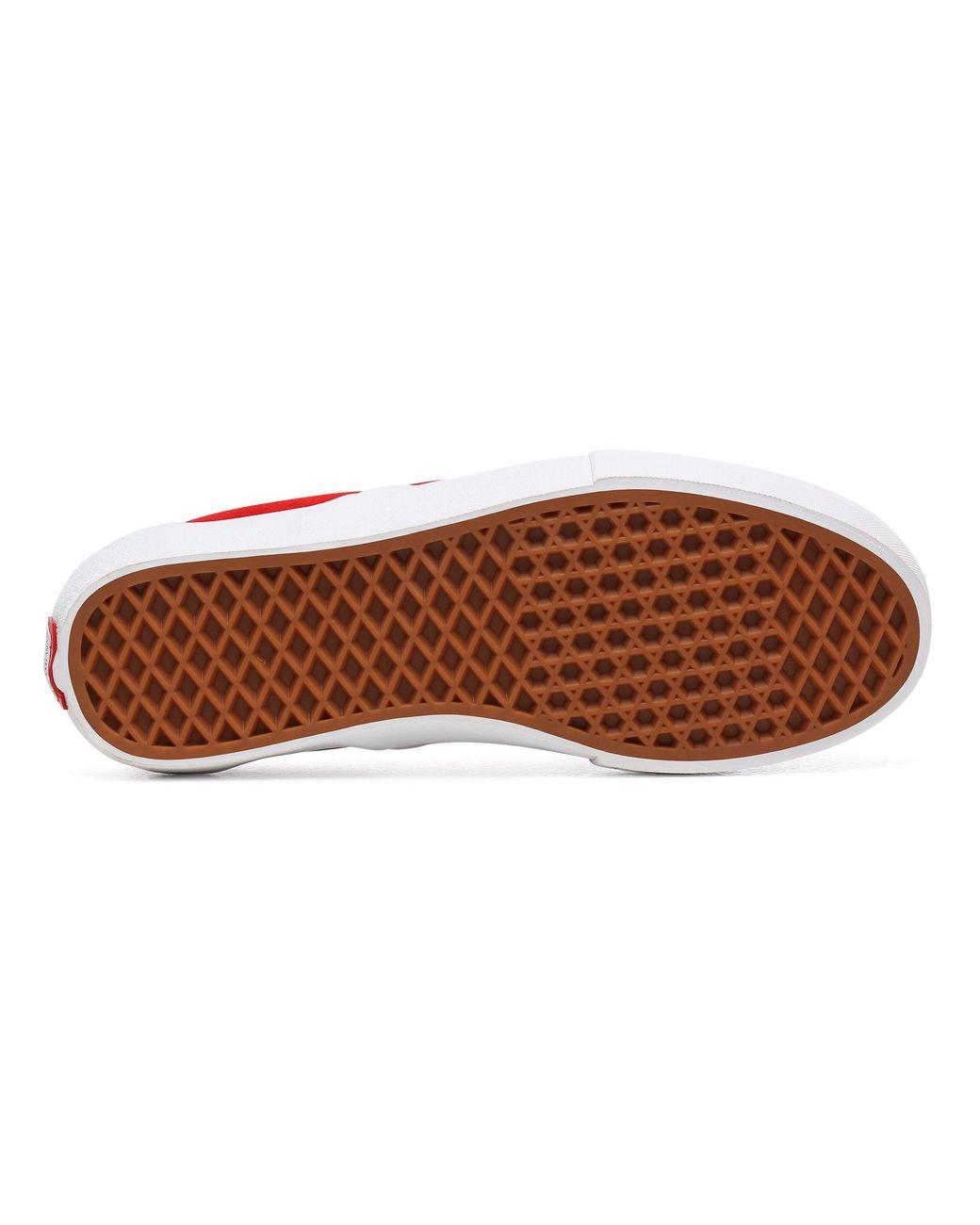 Chaussures En Daim Slip-on Pro Vans en coloris Rouge - Lyst