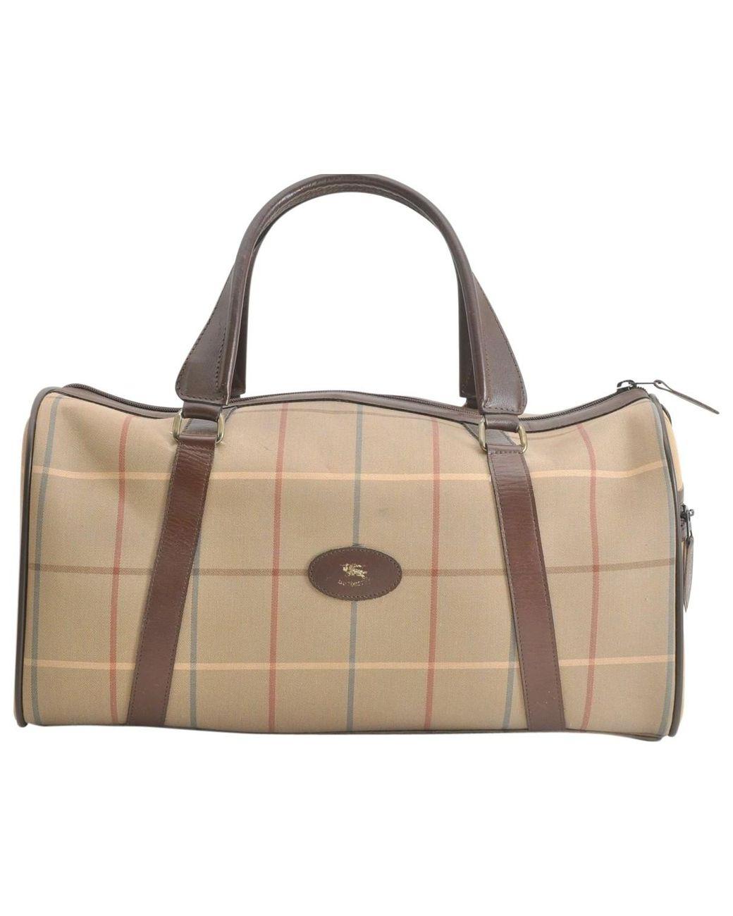 968e26911b7a Lyst - Burberry Vintage Beige Cloth Handbag in Natural