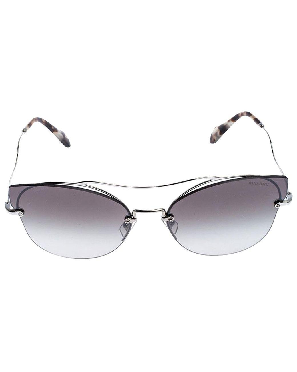 Brand New Miu Miu Sunglasses MU 03SS 1AB 0A7  Black//Gold//Brown Gradient Women