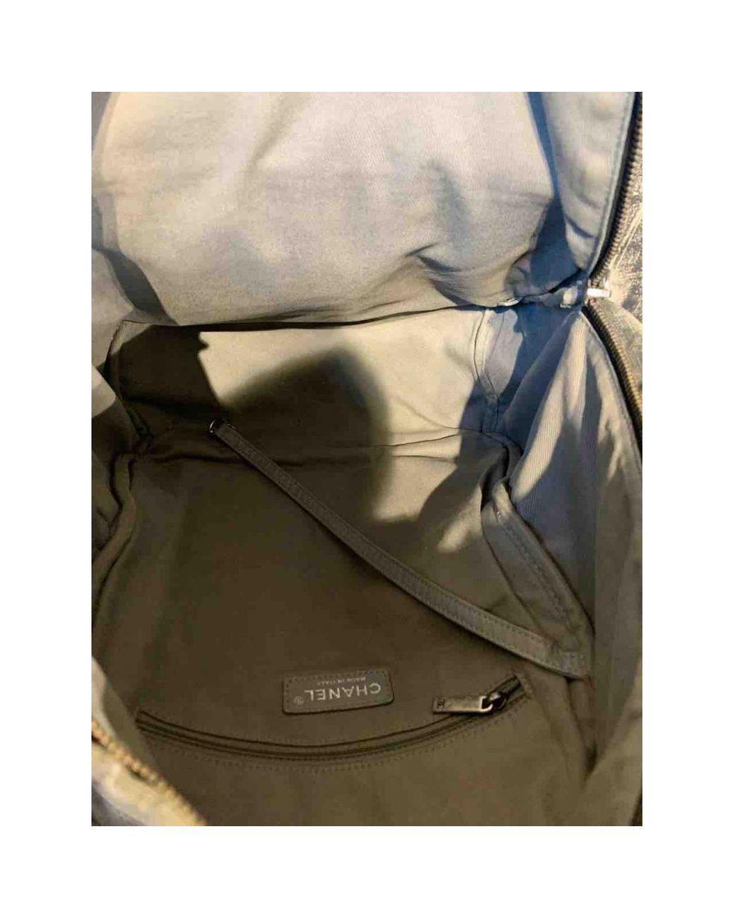 Chanel Graffiti Cloth Backpack In Grey Gray Lyst