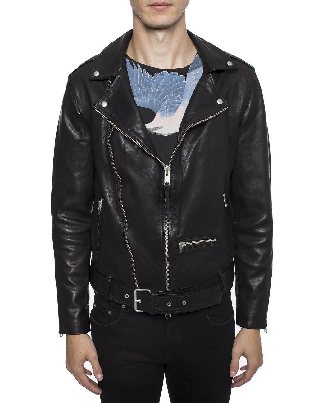 8330bef843 AllSaints 'wick' Biker Jacket in Black for Men - Lyst