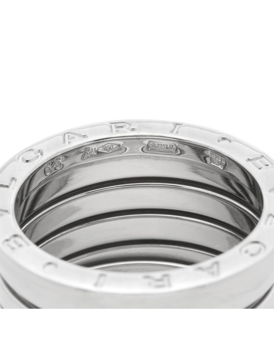 Bvlgari 18k White Gold 5 Band B Zero 1 Ring Lyst