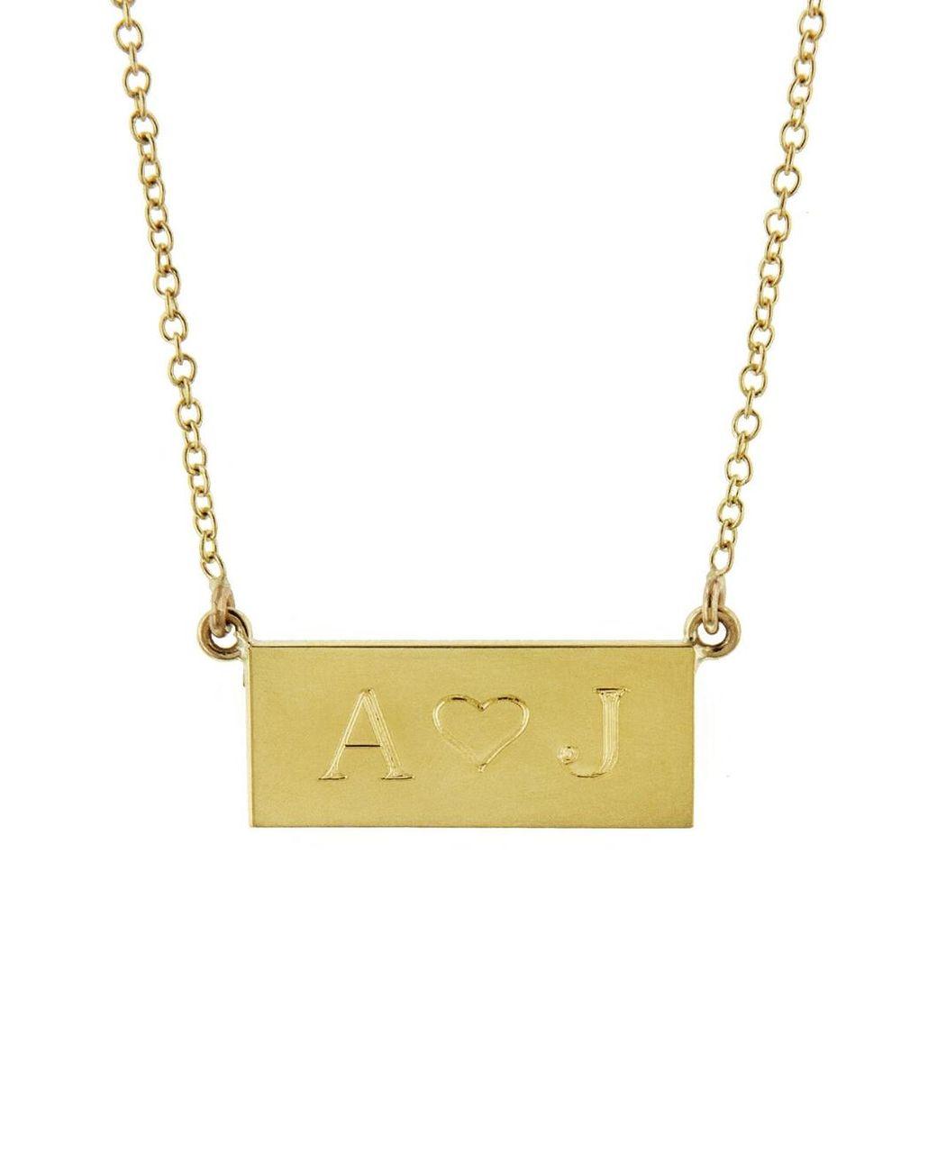 Women's Metallic Personalized Mini Nameplate Necklace