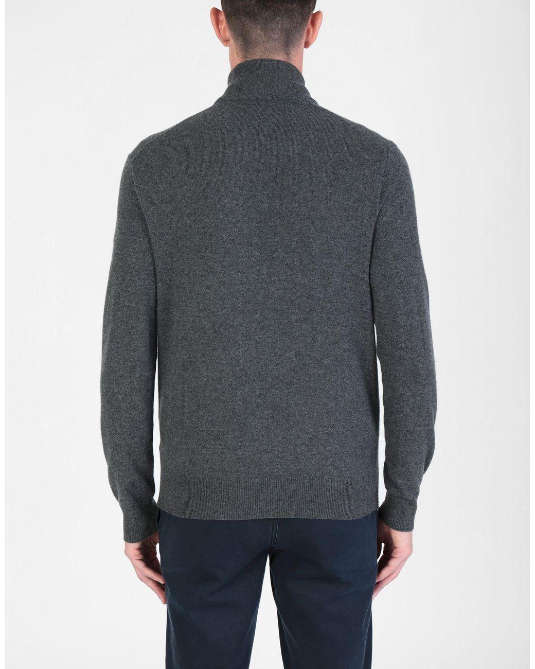 558a3917b Col roulé homme de coloris gris