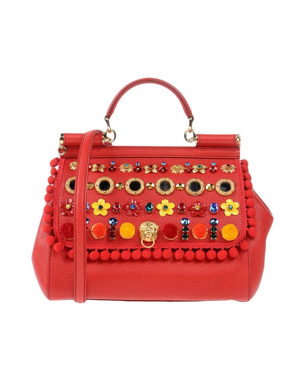 Dolce gabbana сумка красная