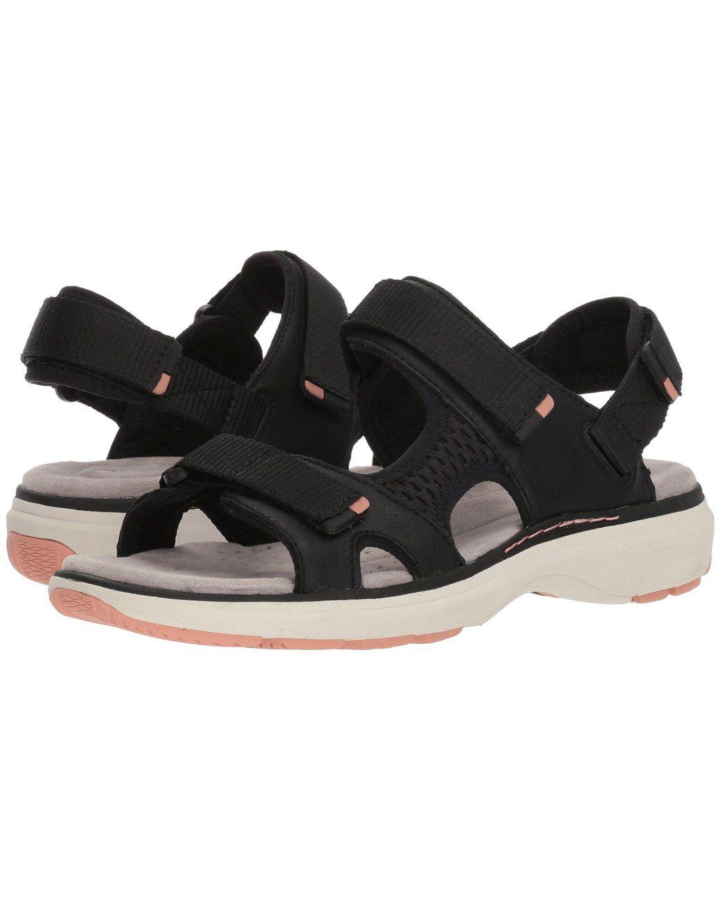 b06968311979 Lyst - Clarks Un Roam Step (black Leather) Women s Sandals in Black