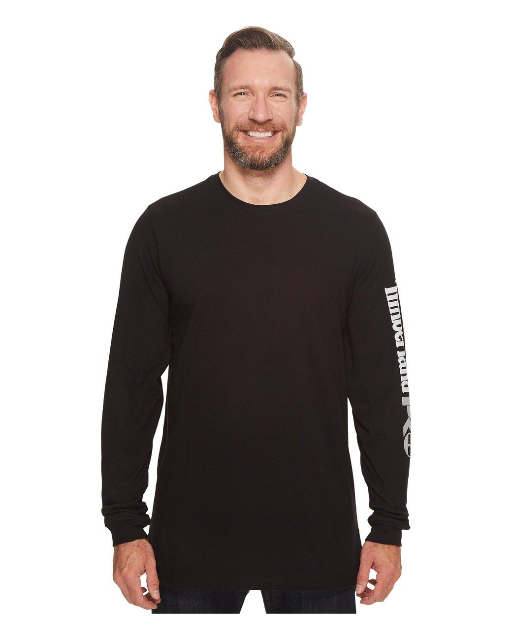 Timberland PRO Mens Big and Tall Base Plate Blended Logo Long-Sleeve T-Shirt