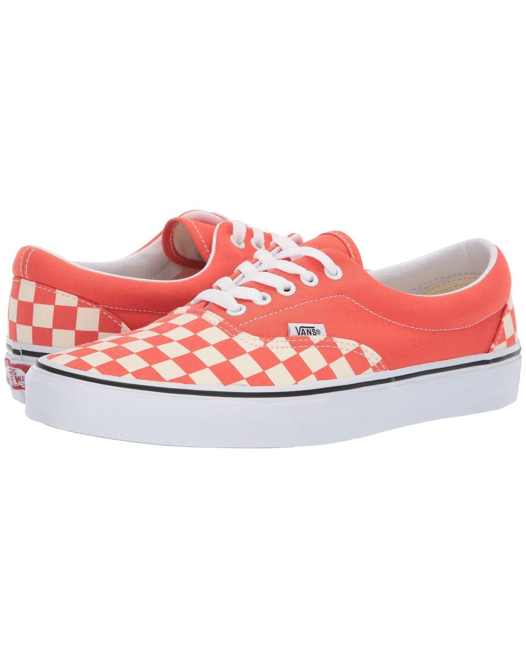 1eb4f421d2 Lyst - Vans Era ((checkerboard) Emberglow true White) Shoes