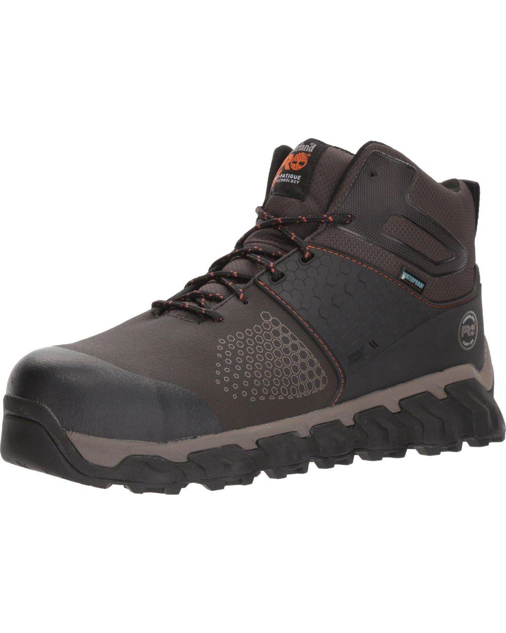b8759f27a74 Men's Brown Ridgework Composite Safety Toe Waterproof Mid