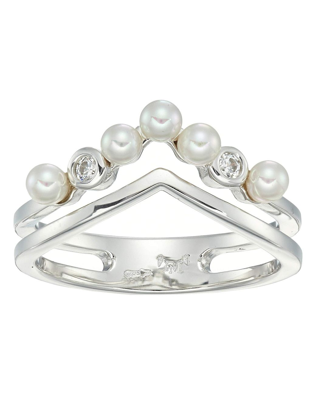 Toe Ring Princess and Pear Cut Crossing CZ Gems Adjustable Mid Ring