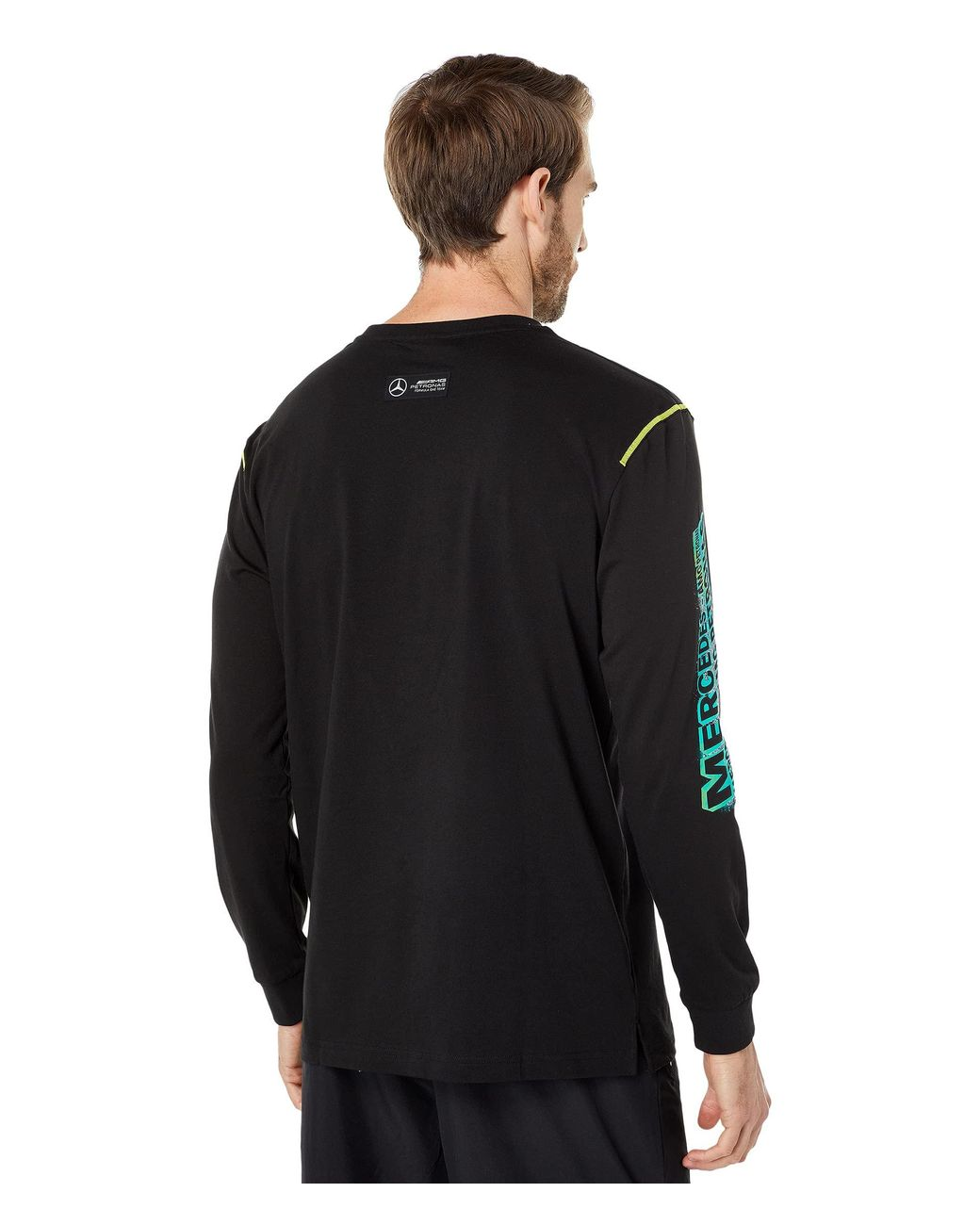 PUMA Cotton Mapf1 Street Graphic Long Sleeve Tee in Black for Men ...
