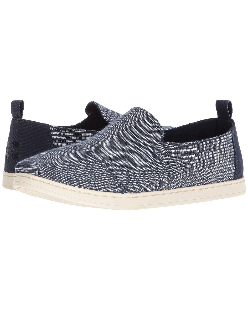 c3e90d6dc5f TOMS. Blue Deconstructed Alpargata (navy Striped Chambray) Men s Slip On  Shoes