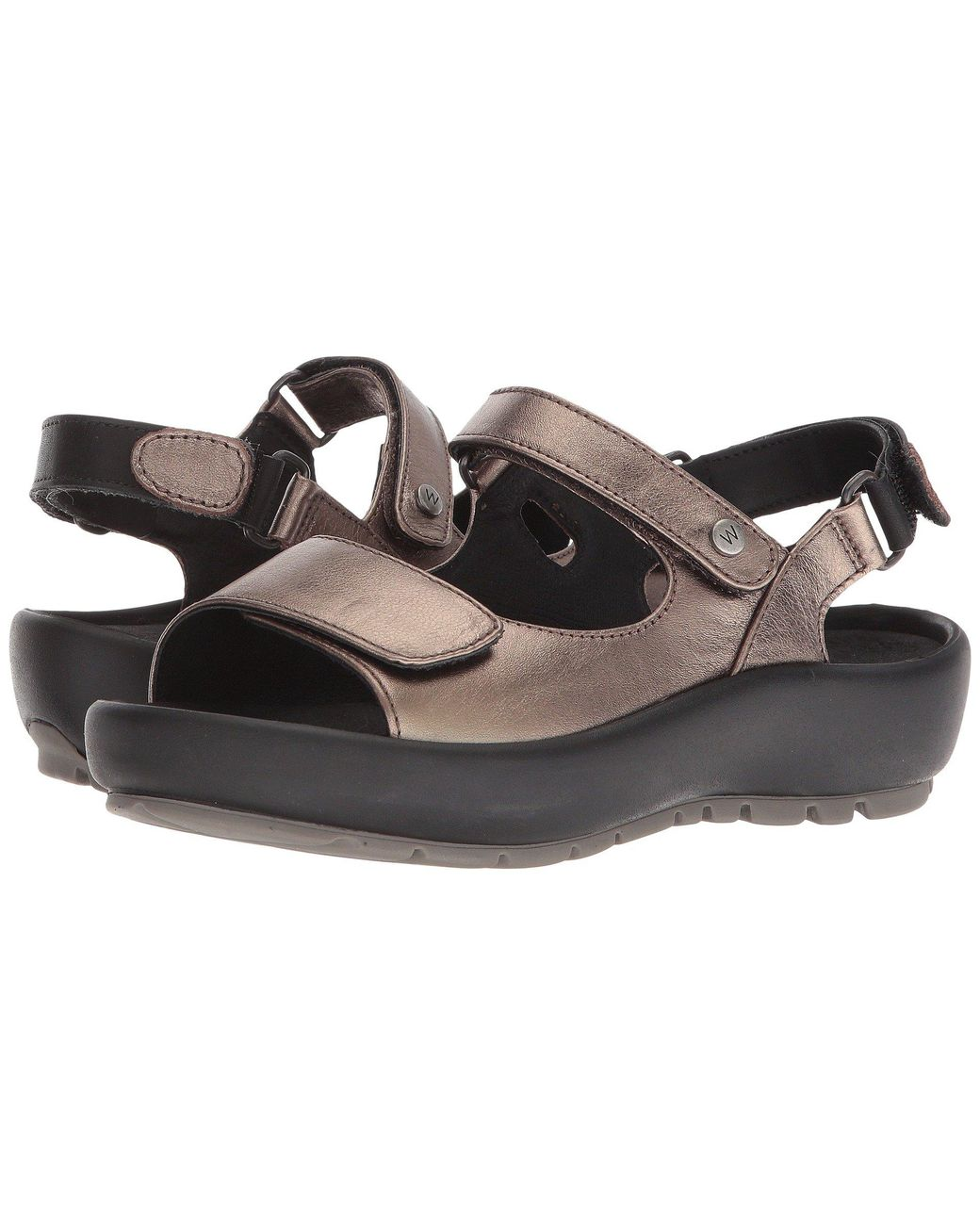 Wolky Rio Red Multi Womens Leather Wedge Slingback Sandals