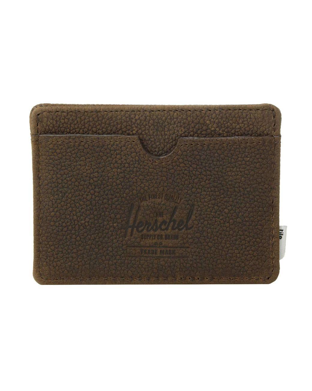 Herschel Roy Wallet Coin XL With Tile Brown Pebbled Nubuck