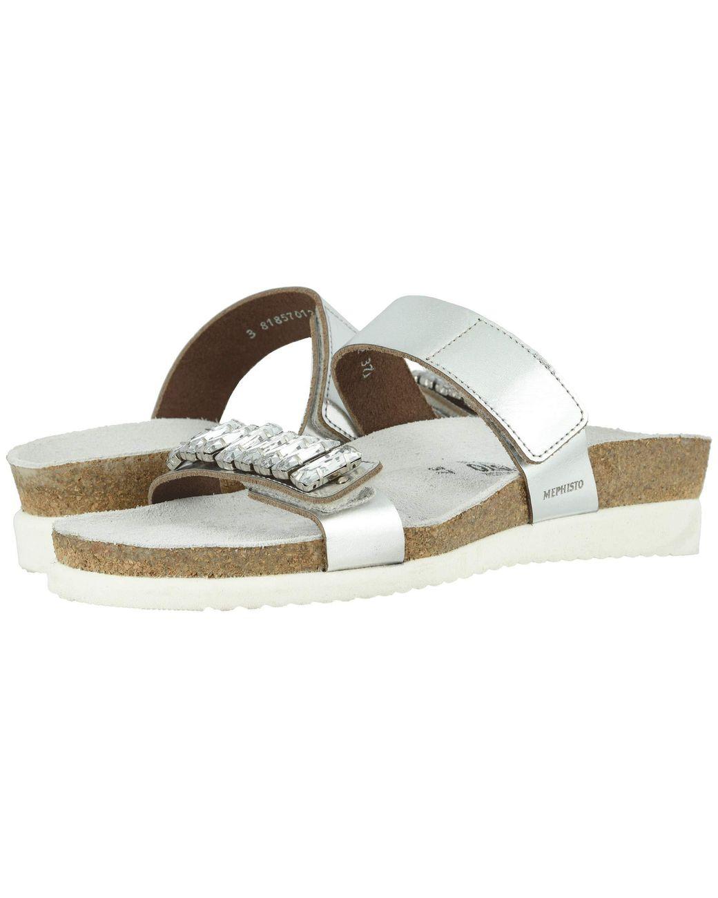 e025541b1e Lyst - Mephisto Hakila (black Patent) Women's Sandals