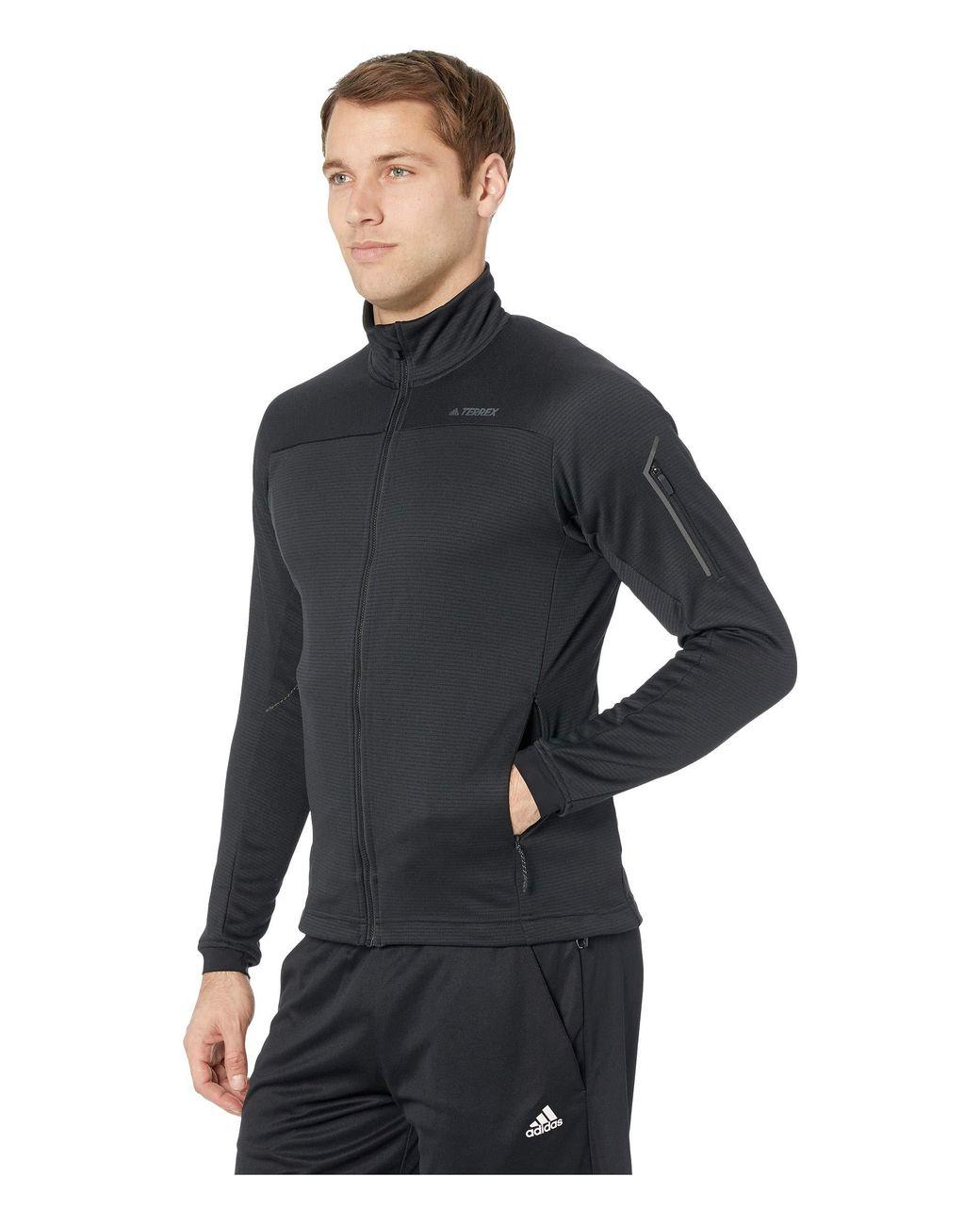 adidas Terrex Stockhorn Fleece Jacket in Black for Men