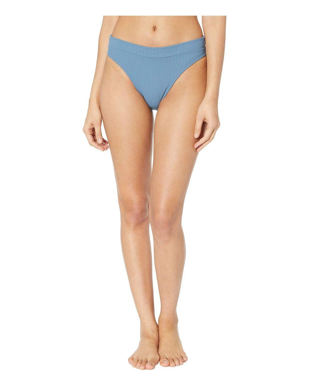 c0f432a9ed2b0 Luli Fama. Blue Jagged Bombshell High Leg Banded Waist Bottom (olas)  Women's Swimwear