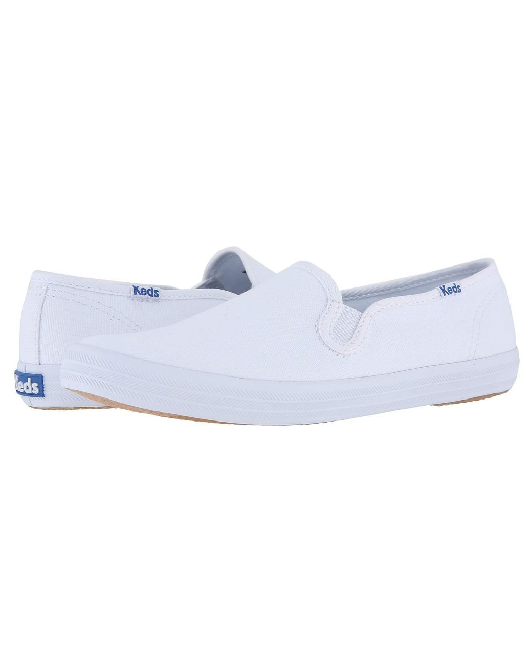 fe9074734 Lyst - Keds Champion-canvas Slip-on (white Canvas) Women s Slip On Shoes in  White - Save 3%