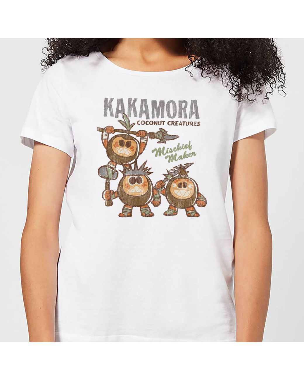 image about Kakamora Printable known as Womens White Moana Kakamora Mischief Manufacturer T-blouse