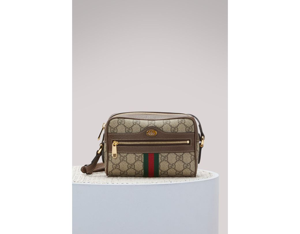 689e0f0babb Lyst - Gucci Ophidia Sm Crossbody Bag in Natural